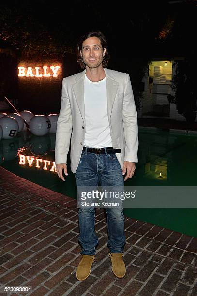 Brad Falchuk wearing Bally attends Bally Dinner celebrating Beverly Hills flagship store opening in support of Communities in Schools on April 21...