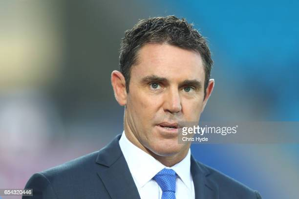 Brad Fittler looks on before the round three NRL match between the Gold Coast Titans and the Parramatta Eels at Cbus Super Stadium on March 17 2017...