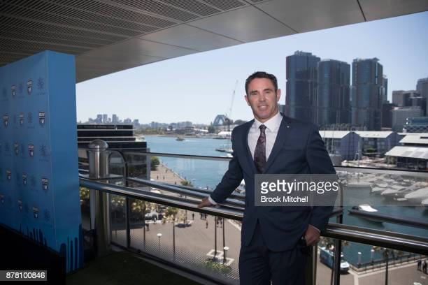 Brad Fittler poses during a press conference at the Star announcing his new role as coach of the New South Wales State of Origin team on November 24...