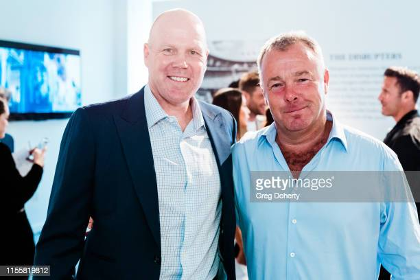 Brad Friedel and David Yarrow attend the Maddox Gallery Los Angeles Presents The Disrupters by David Yarrow on June 13 2019 in West Hollywood...