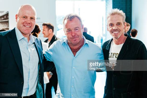 Brad Friedel David Yarrow and Florence Horstmann attend the Maddox Gallery Los Angeles Presents The Disrupters by David Yarrow on June 13 2019 in...
