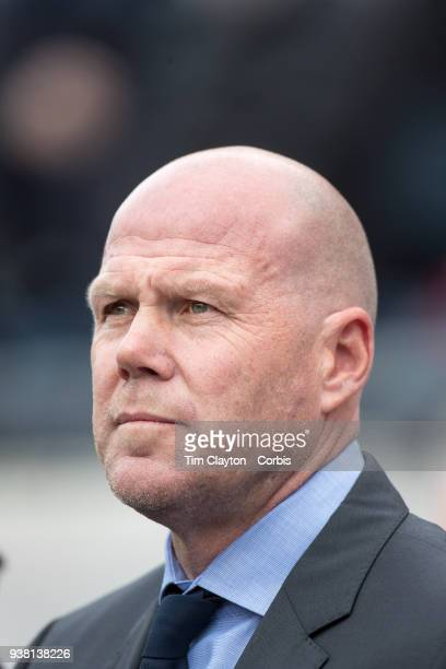 Brad Friedel head coach of New England Revolution on the sideline during the New England Revolution Vs New York City FC regular season MLS game at...
