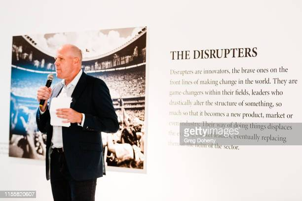 Brad Friedel introduces David Yarrow at the Maddox Gallery Los Angeles Presents The Disrupters by David Yarrow on June 13 2019 in West Hollywood...