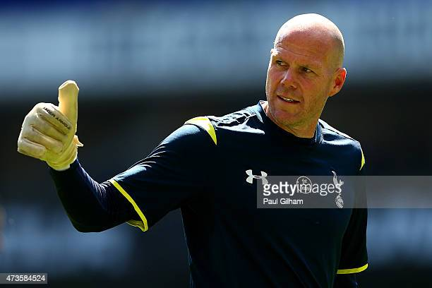 Brad Friedel of Spurs gives the thumbs up during the Barclays Premier League match between Tottenham Hotspur and Hull City at White Hart Lane on May...