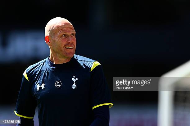 Brad Friedel of Spurs looks on ahead of the Barclays Premier League match between Tottenham Hotspur and Hull City at White Hart Lane on May 16 2015...