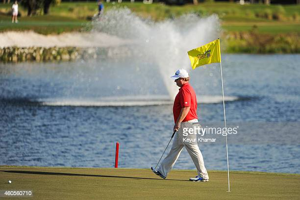 Brad Fritsch of Canada approaches his ball on the 18th hole green of the Champion Course during the sixth and final round of the Webcom Tour QSchool...