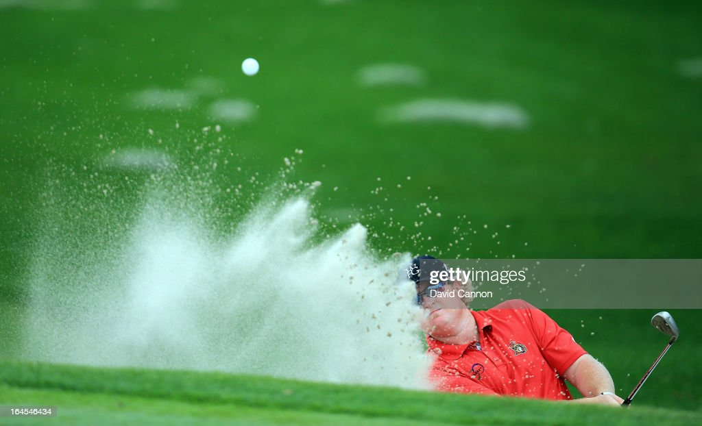 Brad Fritsch of Canada plays his third shot at the par 4, 1st hole during the final round of the 2013 Arnold Palmer Invitational Presented by Mastercard at Bay Hill Golf and Country Club on March 24, 2013 in Orlando, Florida.