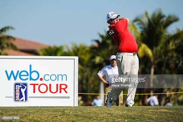Brad Fritsch of Canada tees off on the 10th hole on the Champion Course during the sixth and final round of the Webcom Tour QSchool at PGA National...