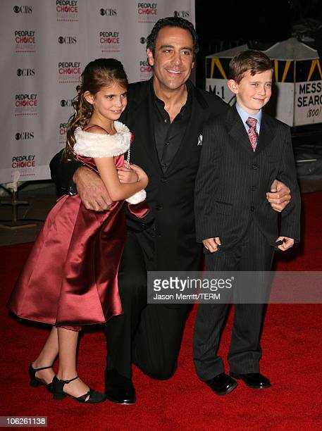 Brad Garrett and guests during 33rd Annual People's Choice Awards Arrivals at Shrine Auditorium in Los Angeles California United States