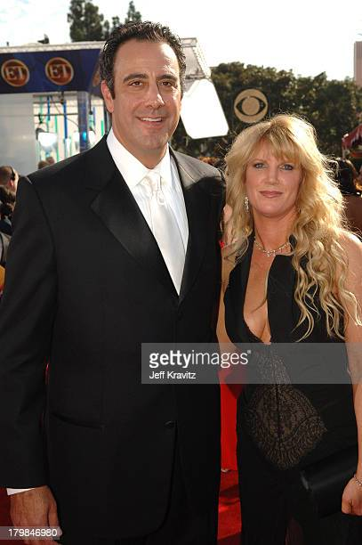 Brad Garrett and Jill Diven during 57th Annual Primetime Emmy Awards Red Carpet at The Shrine in Los Angeles California United States