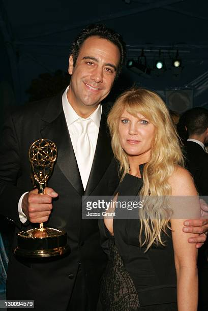 Brad Garrett and Jill Diven during The 57th Annual Emmy Awards HBO After Party in Los Angeles California United States