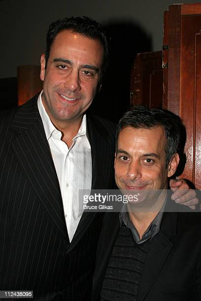 Brad Garrett and Joe Mantello during New York Casting Society of America 21st Annual Artio's Awards at American Airlines Theater Penthouse in New...
