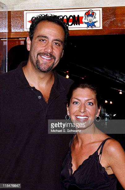 Brad Garrett and Tammy Pescatelli during Comedian Tammy Pescatelli Performs at The Ice House July 31 2003 at The Ice House in Pasadena California...