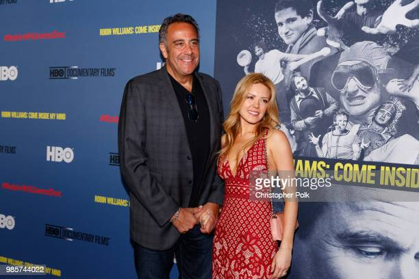 Brad Garrett and wife Jill Diven arrive to the Premiere Of HBO's Robin Williams Come Inside My Mind at TCL Chinese 6 Theatres on June 27 2018 in...