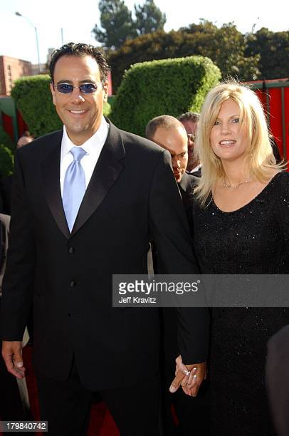 Brad Garrett and wife Jill Diven during 55th Annual Primetime Emmy Awards Red Carpet at The Shrine Auditorium in Los Angeles California United States