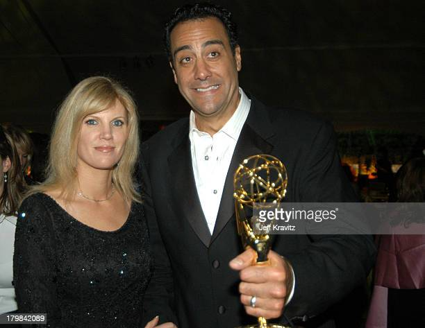 Brad Garrett and wife Jill Diven during 55th Annual Primetime Emmy Awards HBO After Party at Pacific Design Center in Los Angeles California United...