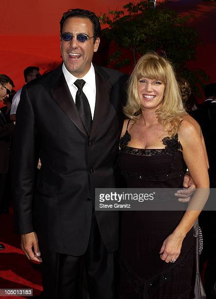 Brad Garrett and wife Jill Diven during The 54th Annual Primetime Emmy Awards Arrivals at The Shrine Auditorium in Los Angeles California United...