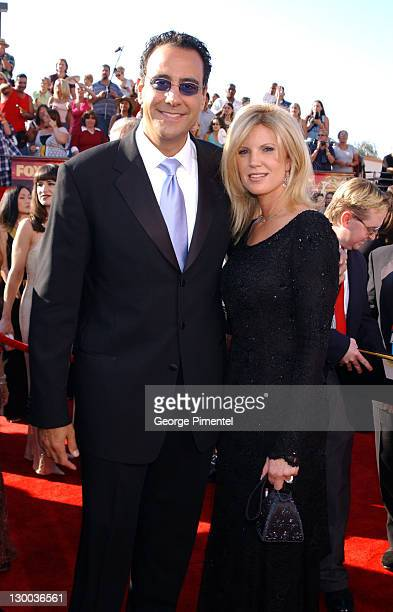 Brad Garrett and wife Jill Diven during The 55th Annual Primetime Emmy Awards Access Hollywood Red Carpet at The Shrine Theater in Los Angeles...