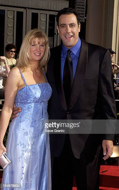 Brad Garrett and wife Jill Diven during The 8th Annual Screen Actors Guild Awards Arrivals at Shrine Exposition Center in Los Angeles California...