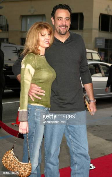 Brad Garrett and wife Jill Diven during The Whole Ten Yards World Premiere at Grauman's Chinese Theatre in Hollywood CA United States
