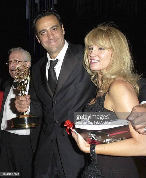 Brad Garrett and wife Jill Diven with his Emmy at the Governors' Ball