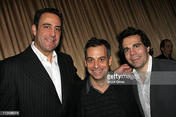 Brad Garrett Joe Mantello and Mario Cantone during New York Casting Society of America 21st Annual Artio's Awards at American Airlines Theater...