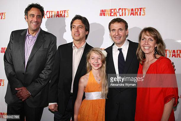 Brad Garrett Ray Romano and Lily Philip and Monica Rosenthal arrive at The 2009 20th Anniversary Inner City Arts Imagine Gala And Auction held at The...