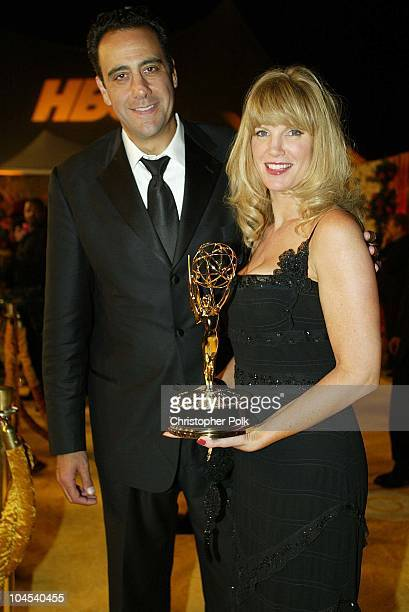 Brad Garrett wife Jill Diven during The 54th Annual Primetime Emmy Awards HBO Post Party at Spago's in Los Angeles California United States