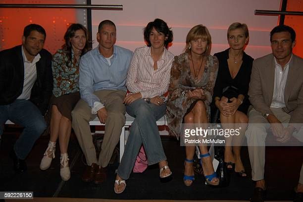 Brad Gooch Ghislaine Maxwell Anne McNally and Andre Balazs attend LA DOLCE DIVA DIANE von FURSTENBERG Spring 2006 at DVF STUDIO on September 11 2005...
