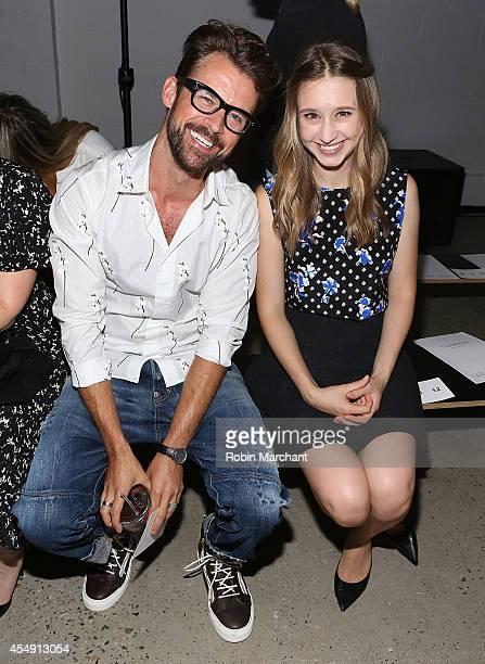 Brad Goreski and Actress Taissa Farmiga attend Thakoon during MercedesBenz Fashion Week Spring 2015 at on September 7 2014 in New York City