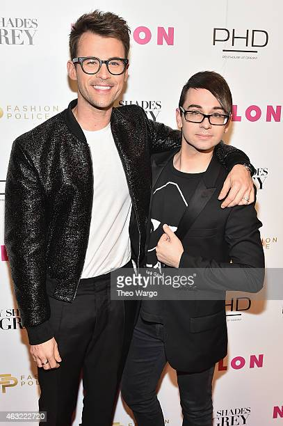 Brad Goreski and designer Christian Siriano attend E Fashion Police and NYLON kickoff New York Fashion Week with a 50 Shades of Fashion event in...
