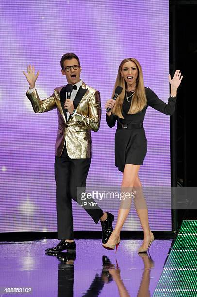 Brad Goreski and Giuliana Rancic attend Macy's Presents Fashion's Front Row at The Theater at Madison Square Garden on September 17 2015 in New York...