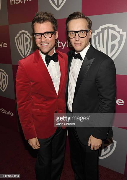 Brad Goreski and InStyle editor Ariel Foxman attend the InStyle and Warner Bros 68th annual Golden Globe awards postparty at The Beverly Hilton hotel...