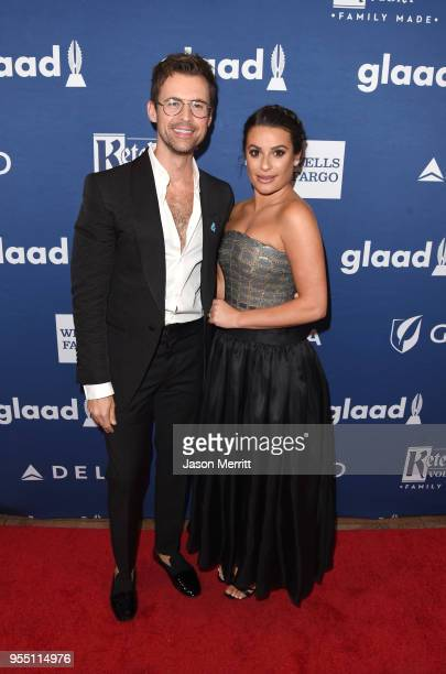 Brad Goreski and Lea Michele attend the 29th Annual GLAAD Media Awards at The Hilton Midtown on May 5 2018 in New York City