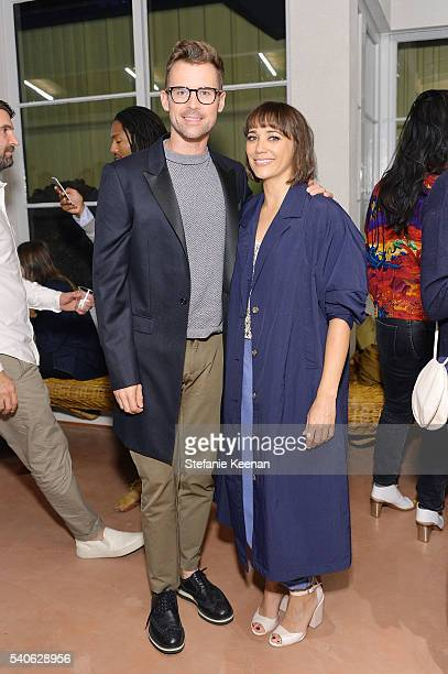 Brad Goreski and Rashida Jones attend Rachel Comey Los Angeles Store Opening on June 15 2016 in Los Angeles California