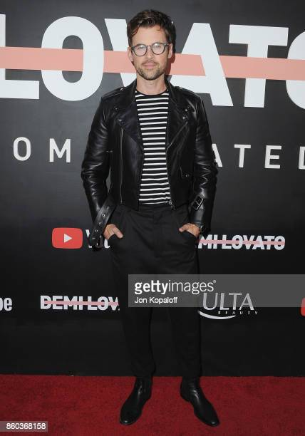 Brad Goreski arrives at the premiere of YouTube's 'Demi Lovato Simply Complicated' on October 11 2017 at the Fonda Theatre in Los Angeles California