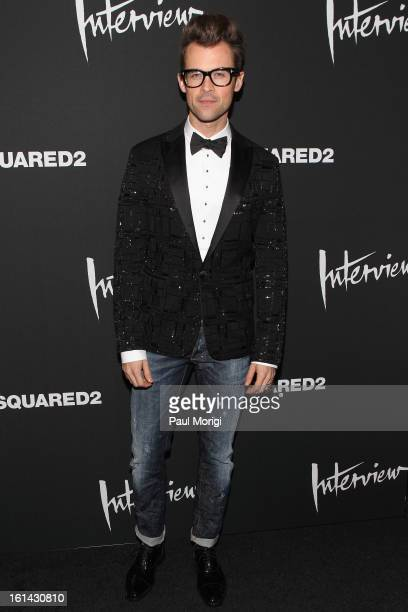 Brad Goreski arrives to DSquared2 and Interview Magazine's premiere screening of Behind The Mirror Spring Summer 2013 Campaign at Copacabana on...