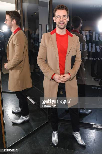 Brad Goreski attends Oliver Peoples x Tasya van Ree Celebrates Who is Oliver Exhibition at LECLAIREUR on February 13 2019 in Los Angeles California