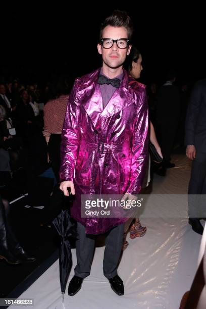 Brad Goreski attends the Carolina Herrera Fall 2013 fashion show during MercedesBenz Fashion Week at The Theatre at Lincoln Center on February 11...