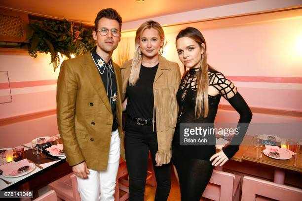 Brad Goreski Danielle Bernstein and Maria Hatzistefanis pose for a photo together as Hatzistefanis and Goreski host Rodial VIP Dinner on May 3 2017...