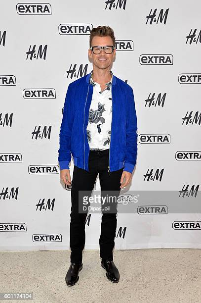 Brad Goreski visits 'Extra' at their New York studios at HM in Times Square on September 9 2016 in New York City