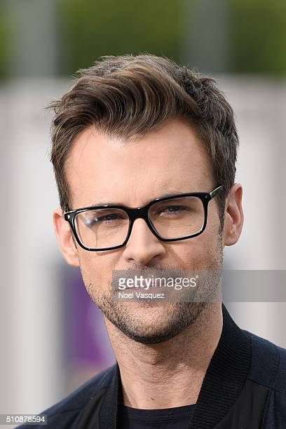 Brad Goreski visits 'Extra' at Universal Studios Hollywood on February 17 2016 in Universal City California