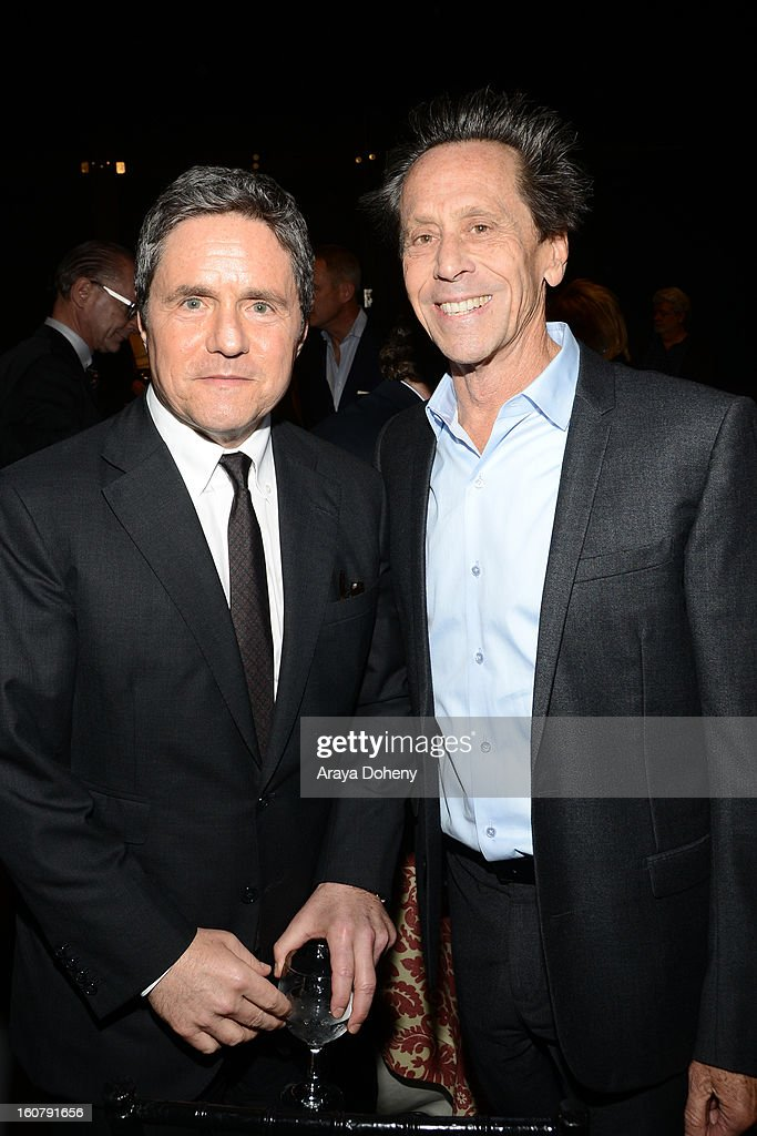 Brad Grey and Brian Grazer attend the dedication of the Sumner M. Redstone Production Building at USC on February 5, 2013 in Los Angeles, California.