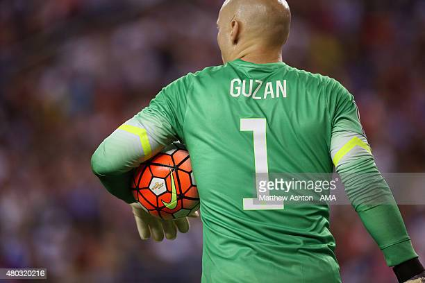 Brad Guzan of United States holds The Nike Ordem 3 Soccer ball the official football for the CONCACAF Gold Cup 2015 under his arm during the CONCACAF...