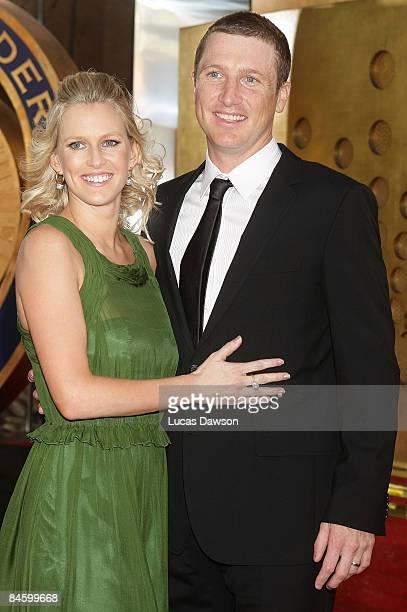 Brad Haddin and wife Karina Haddin arrive at the 2009 Allan Border Medal at the Crown Casino February 3, 2009 in Melbourne, Australia.