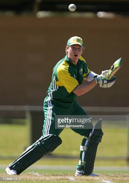 Brad Haddin of Australia A in action during the Top End Series match between Australia A and India A at Marrara Stadium July 8, 2006 in Darwin,...