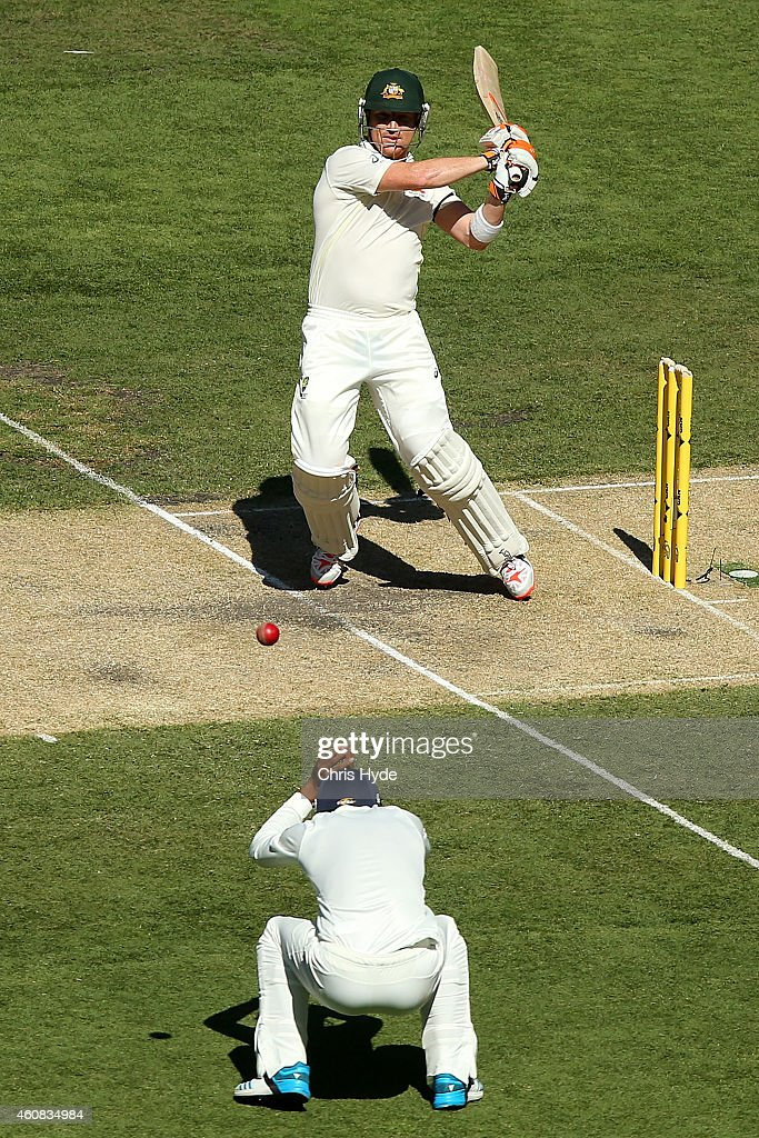 Brad Haddin of Australia bats during day one of the Third Test match between Australia and India at Melbourne Cricket Ground on December 26, 2014 in Melbourne, Australia.
