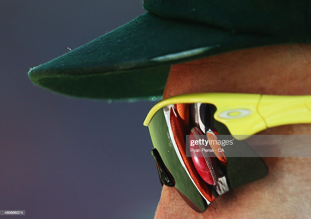 Brad Haddin of Australia warms up during day three of the 2nd Test match between Australia and India at The Gabba on December 19, 2014 in Brisbane, Australia.