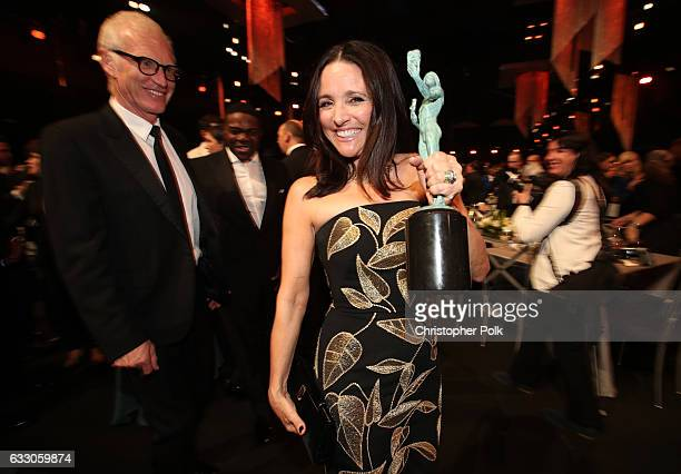 Brad Hall and actor Julia LouisDreyfus winner of the award for Female Actor in a Comedy Series during The 23rd Annual Screen Actors Guild Awards at...