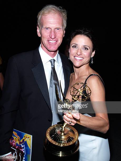 Brad Hall and Julia LouisDreyfus during 58th Annual Primetime Emmy Awards Governors Ball at The Shrine Auditorium in Los Angeles California United...
